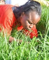 church member eats grass